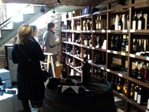 Blick in die Schatzkammer des Weinhandelshauses Siegburg.