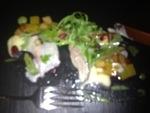 Ceviche von der Dorade mit Granatapfelvinaigrette.