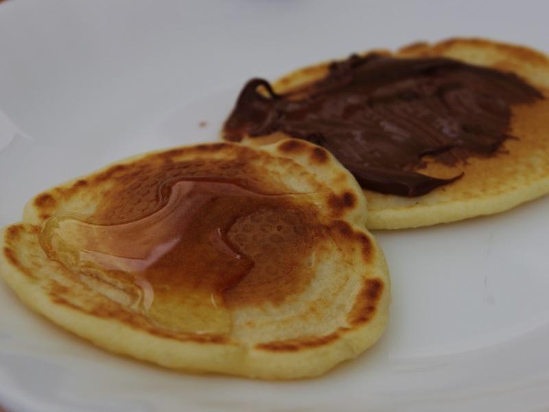Pancakes versüßt.