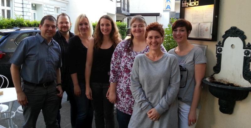 Die Bonner Blogger mal nicht im Internet: (von rechts) Christina, Frau S., Karin, Elena, Annika, Christian und Richard.