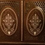 Paravent mit kunstvollen Intarsien